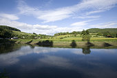 the river wye wye valley border of england and wales tintern monmouthshire gloucestershire