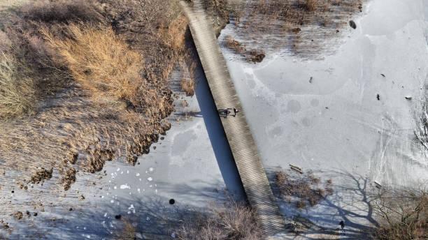scenic vintern bridge - drone copenhagen bildbanksfoton och bilder