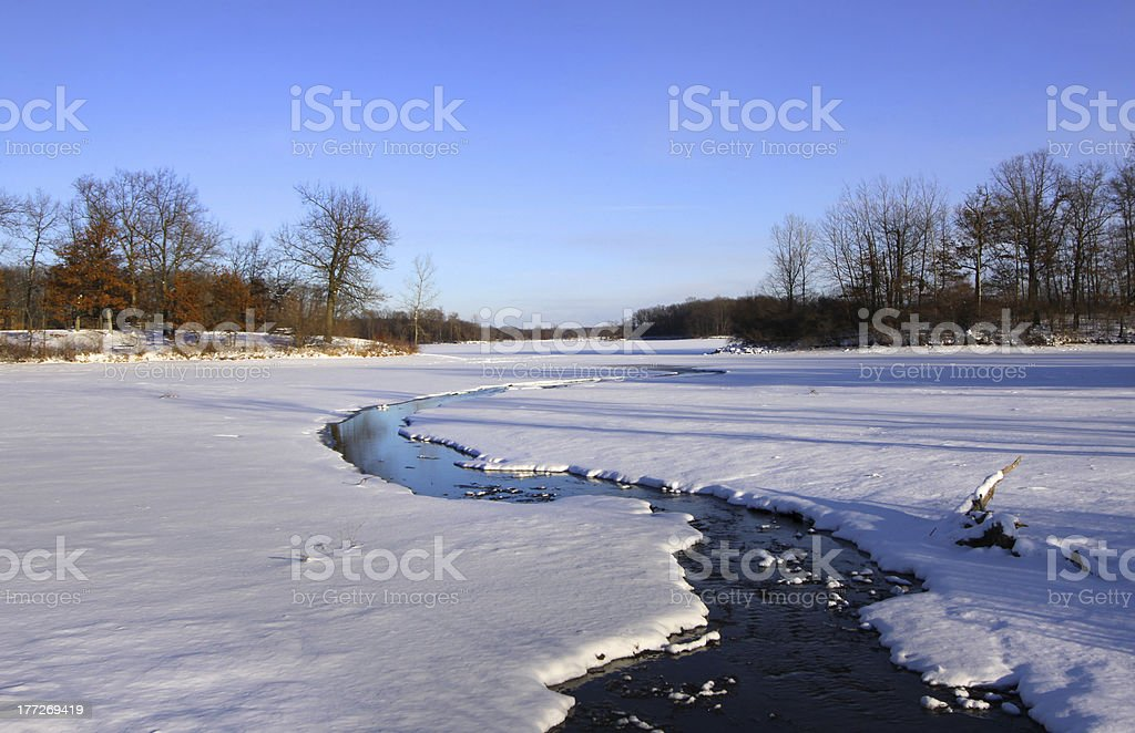 Scenic winter landscape royalty-free stock photo