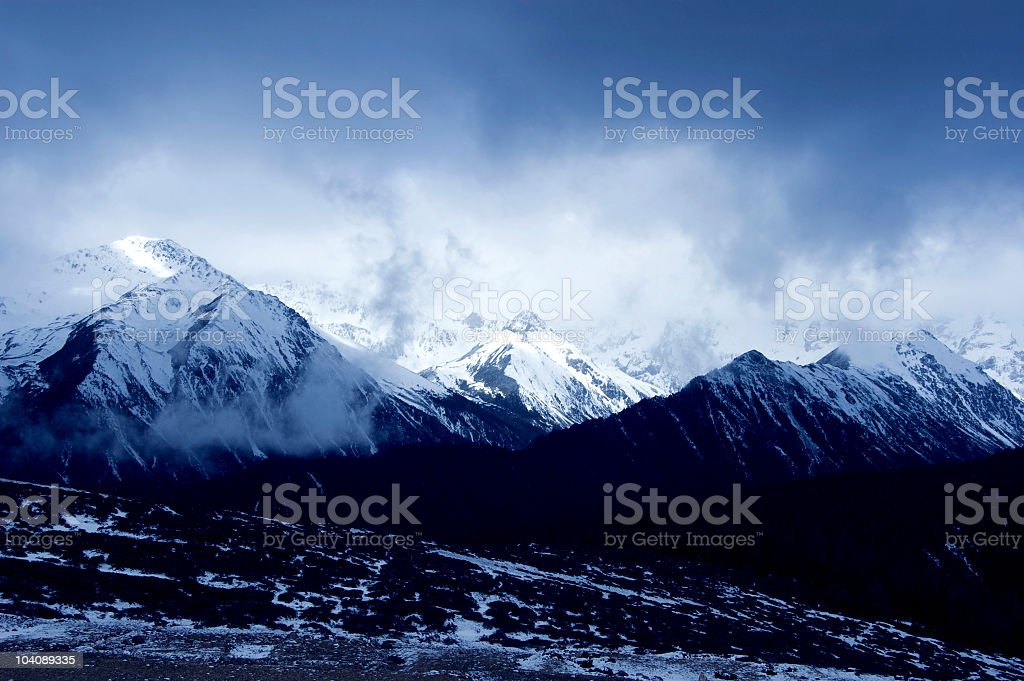 Scenic winter mountain landscape royalty-free stock photo