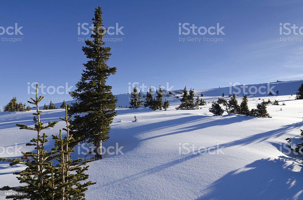 Scenic Winter Mountain View stock photo
