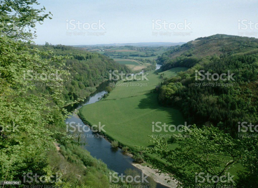 Scenic Wye Valley - Symonds Yat stock photo
