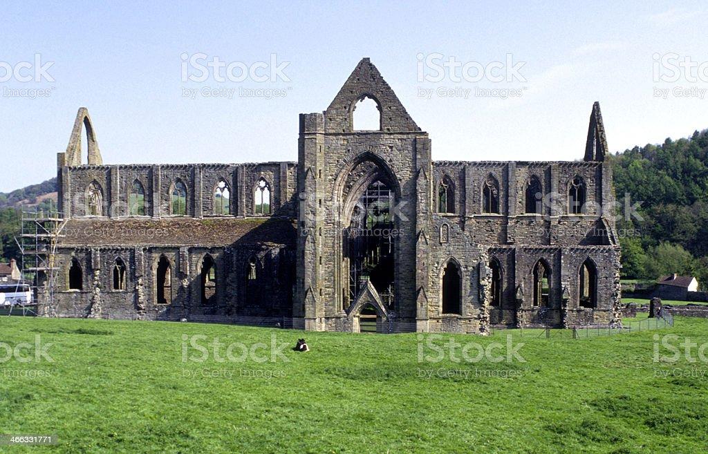Scenic Wye Valley, Tintern Abbey stock photo
