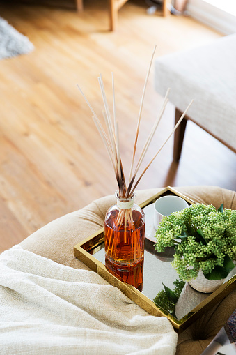 istock Scent sticks aromatic in jar on table 656148818