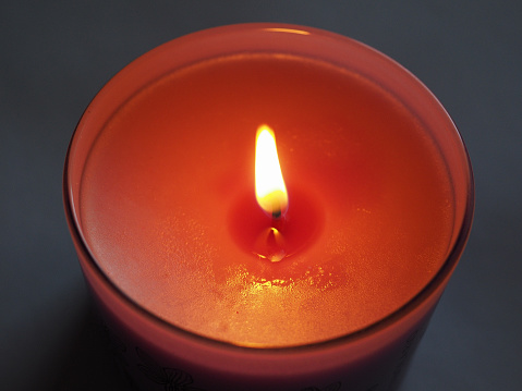 Scented Candle Flame Stock Photo - Download Image Now