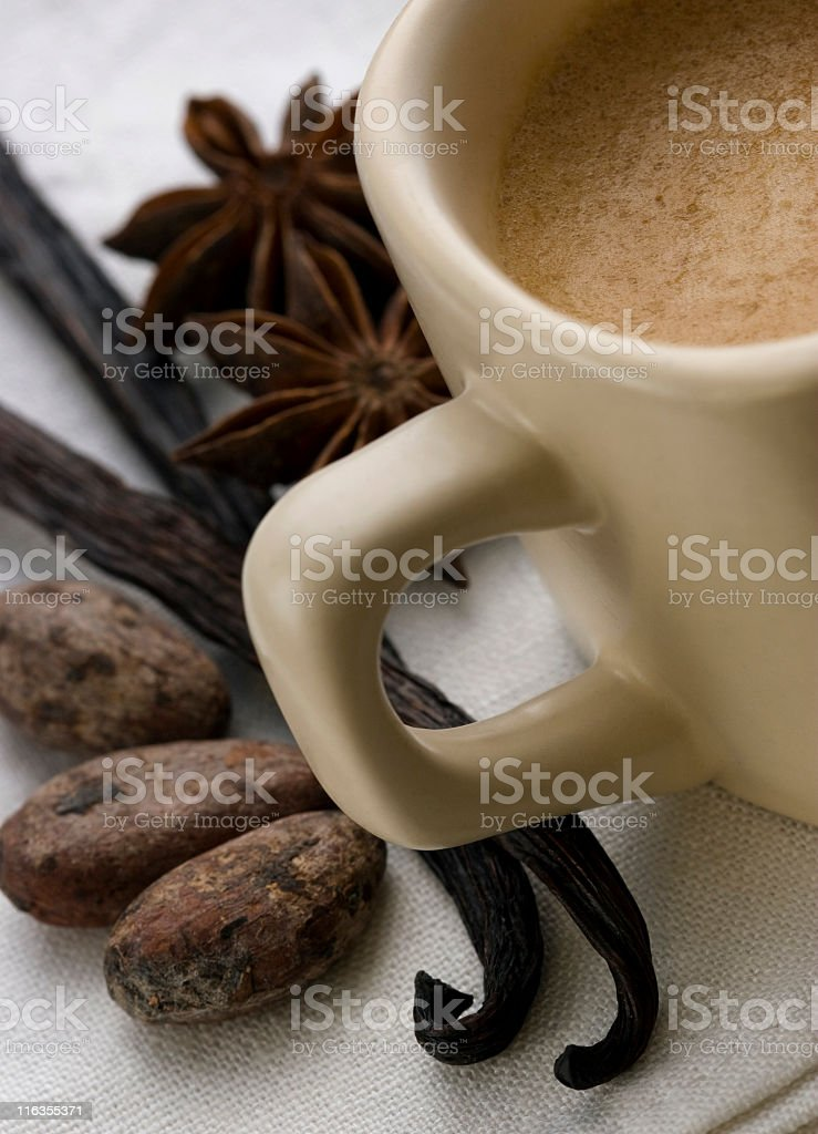 Scented coffee royalty-free stock photo