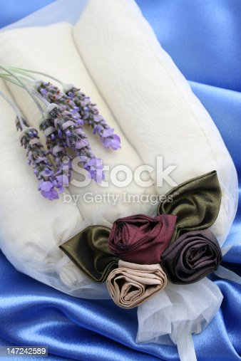 Scented room sachets in a decorated organza bag