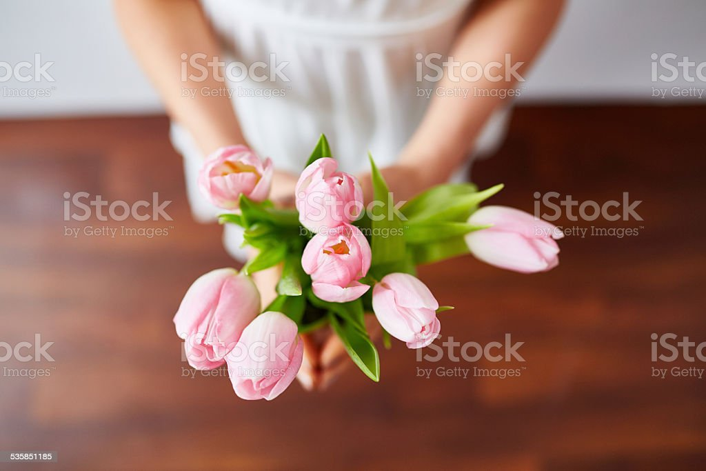 Scented spring gift stock photo