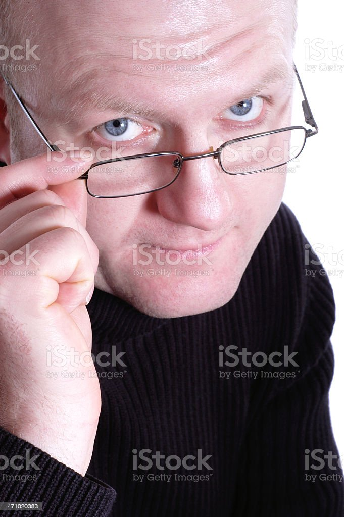 sceptical royalty-free stock photo