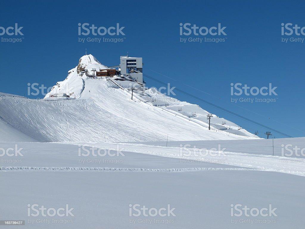 Scex Rouge, Glacier De Diableretes royalty-free stock photo