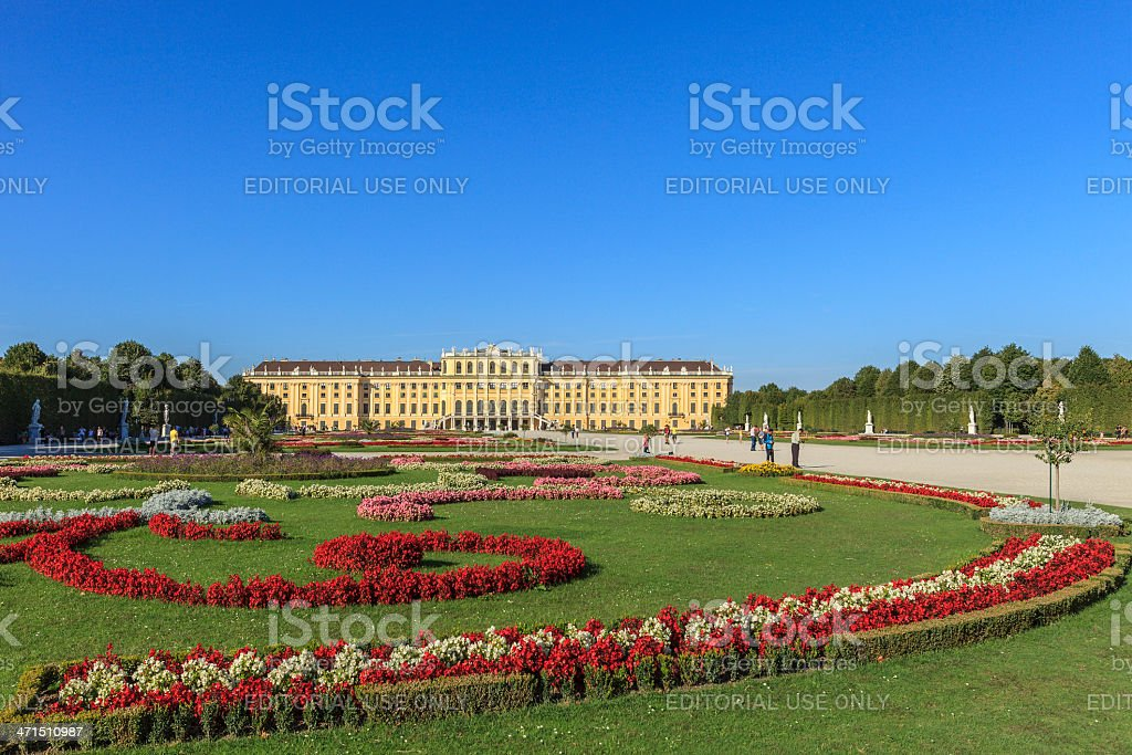 Schönbrunn Palace & Gardens, Vienna royalty-free stock photo
