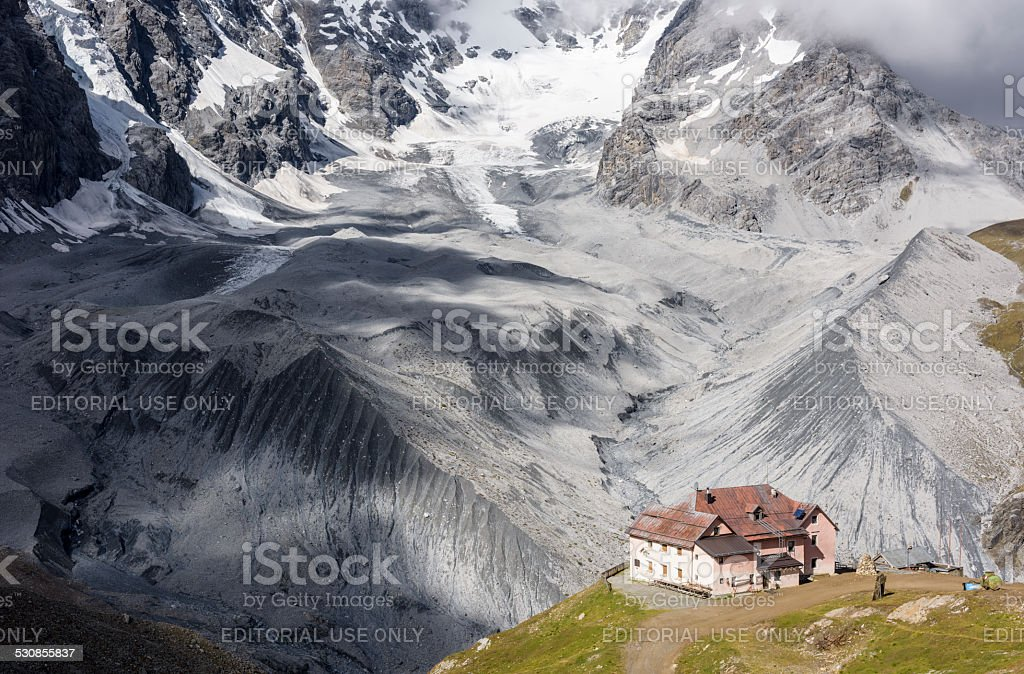 Schaubachhütte, Rifugio stock photo