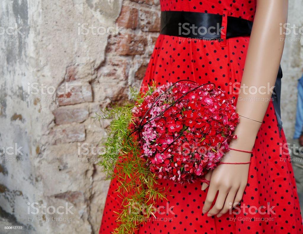Schaufensterpuppe mit rotem Glove – Foto