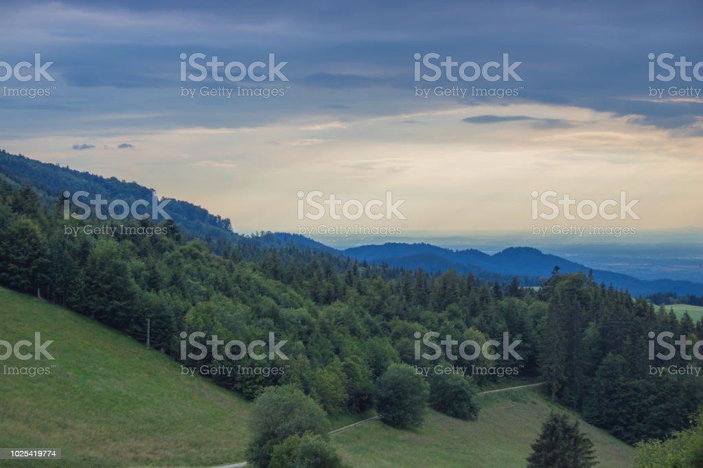 Schauinsland bei Freiburg stock photo