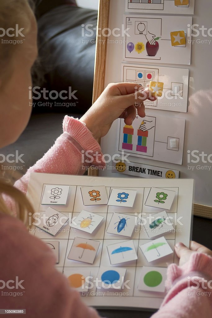 Schedule check-in stock photo
