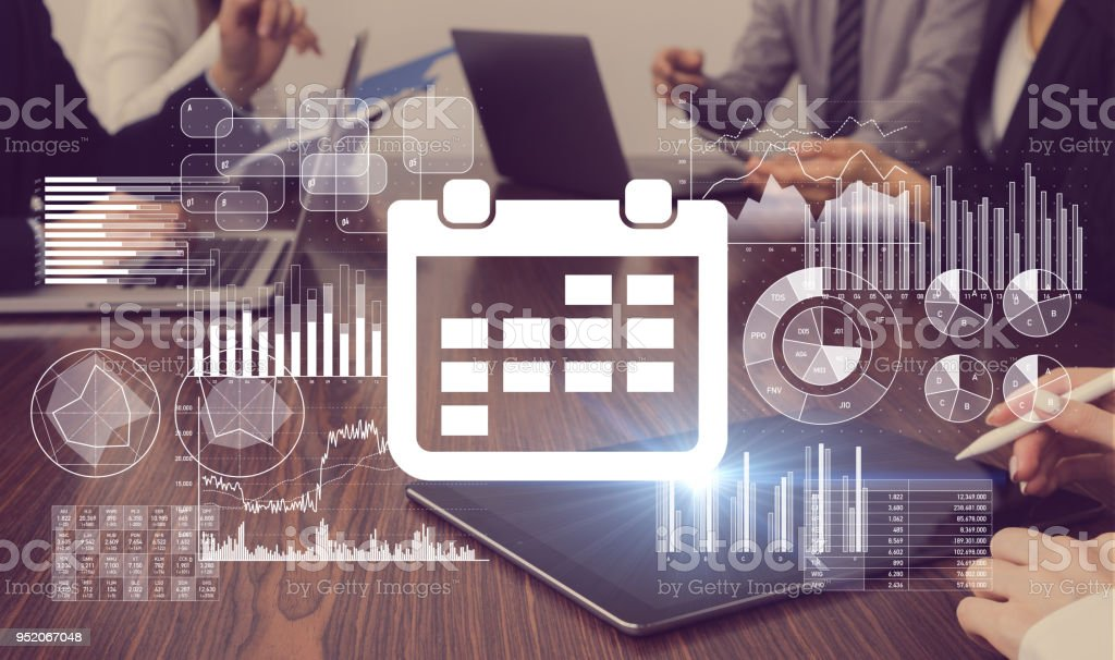 Schedule management of business concept. stock photo
