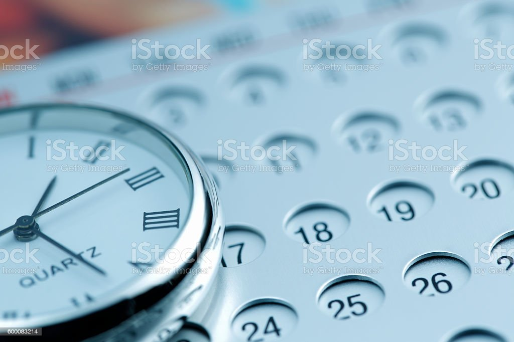 Scheduling and Time stock photo