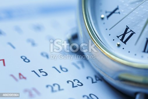 istock Scheduling Blue tone 466395564