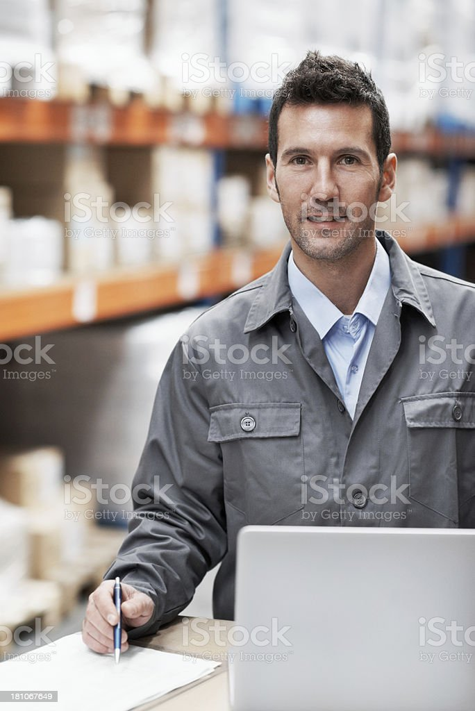 Scheduling shipments royalty-free stock photo