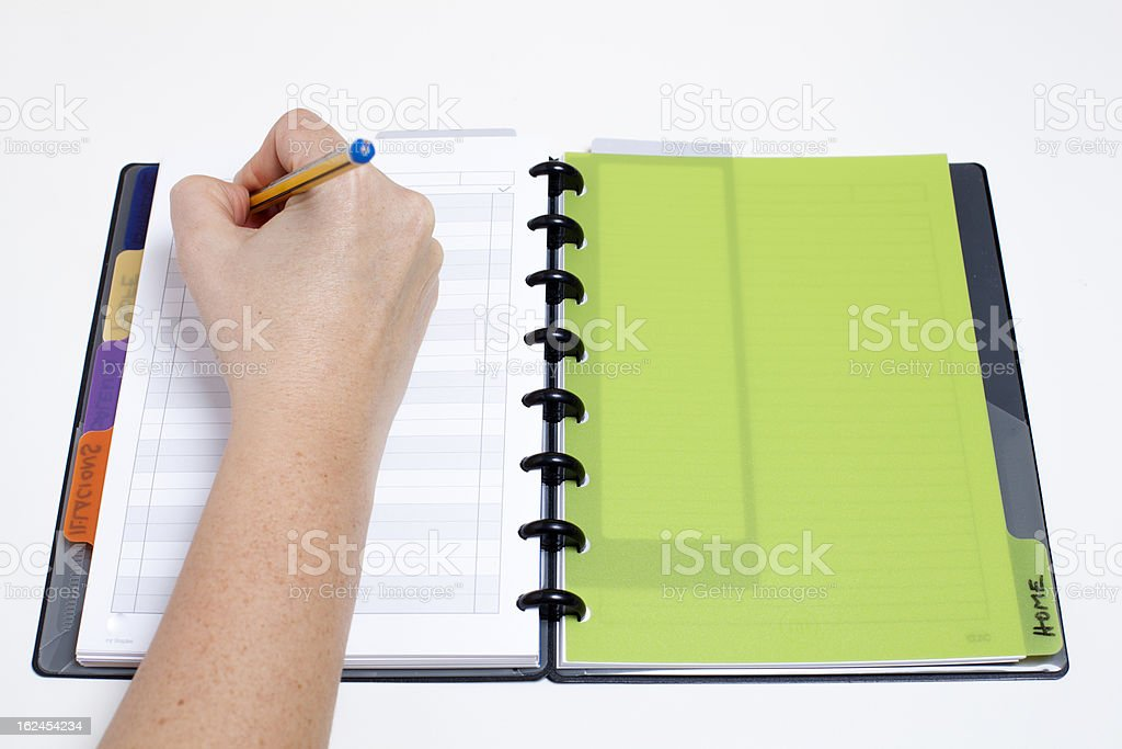 Scheduling the day royalty-free stock photo