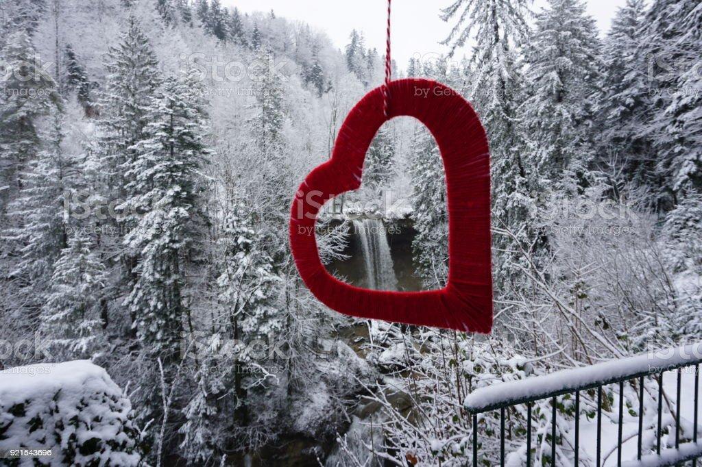 Scheidegg waterfall stock photo