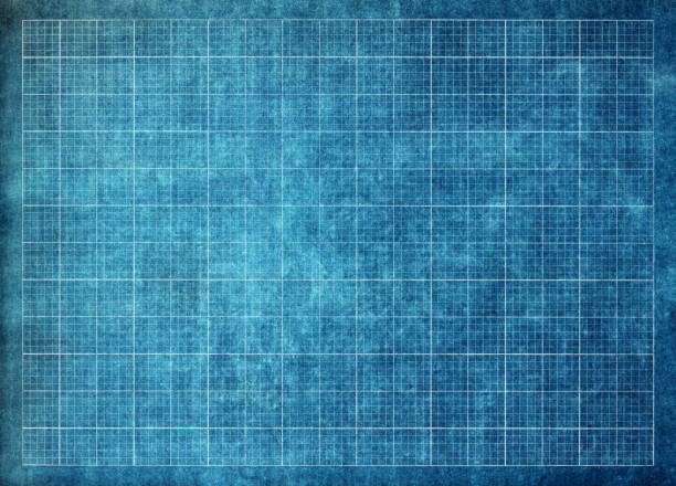 schematic grid paper stock photo