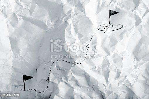 istock Scheme of movement over rough terrain 824977778