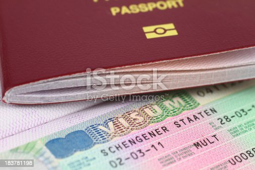 istock Schengen Visa and Passport 183781198