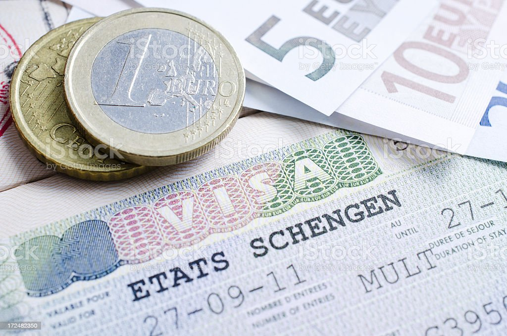 schengen visa royalty-free stock photo