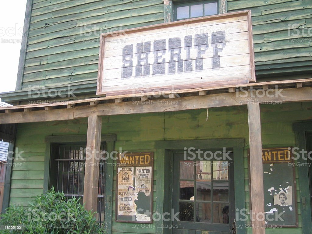 Scheriff Office ..::Far West Series::.. royalty-free stock photo