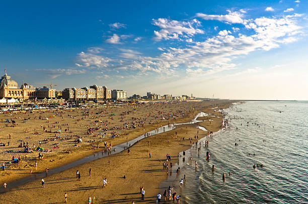 Scheveningen Beach stock photo