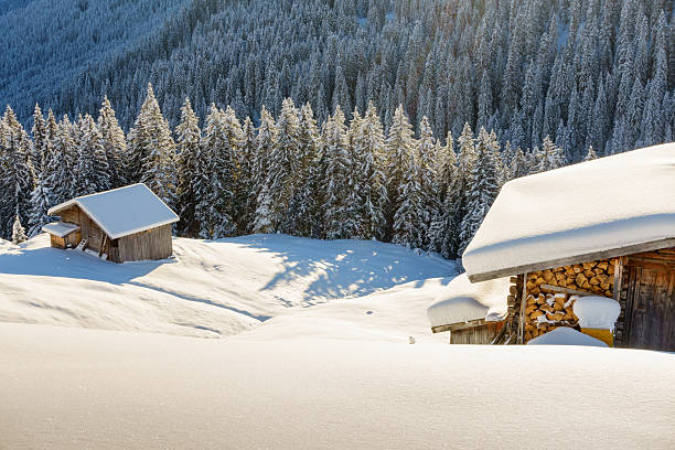 winterwald Schihütte Uhr – Foto