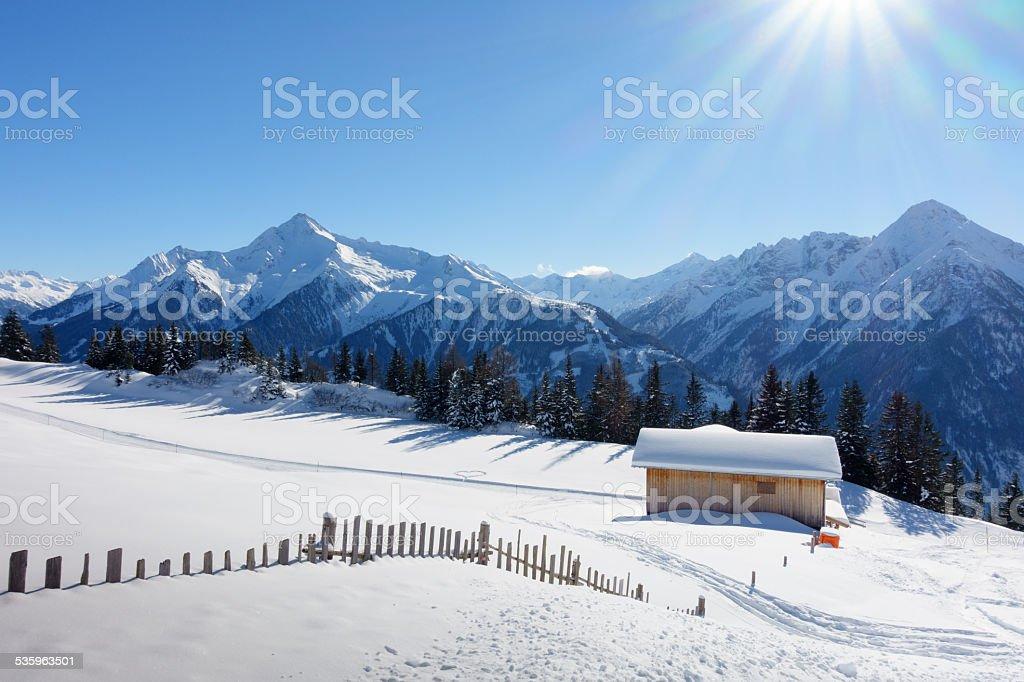 Eine der Schipiste Schihütte – Foto