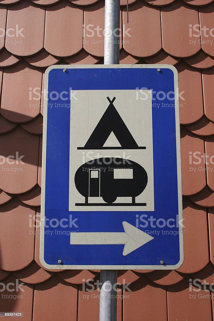 Schild für Zelt-und Campingplatz zbiór zdjęć royalty-free
