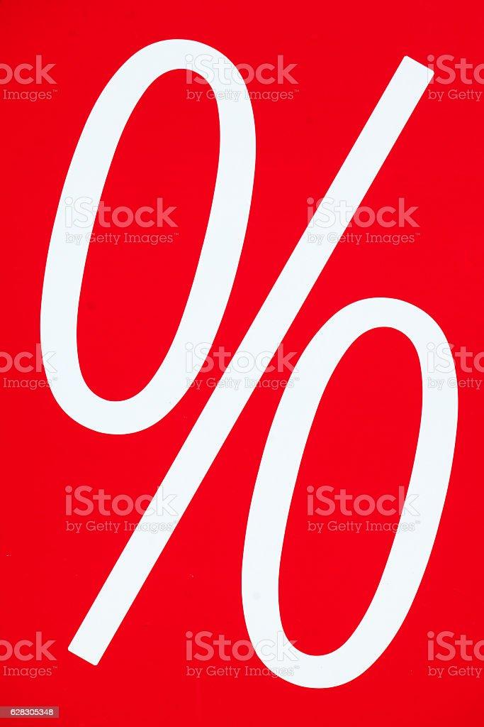 Schild Pronzente stock photo