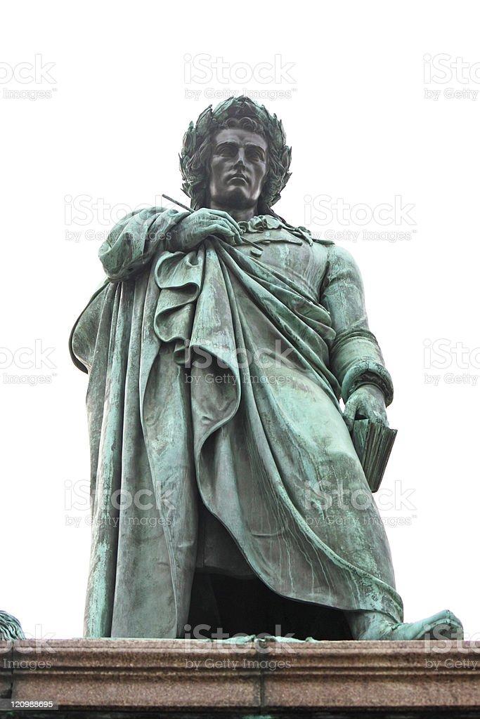 Schiller statue royalty-free stock photo