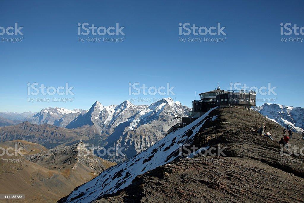 Schilthorn Panorama (Switzerland) royalty-free stock photo