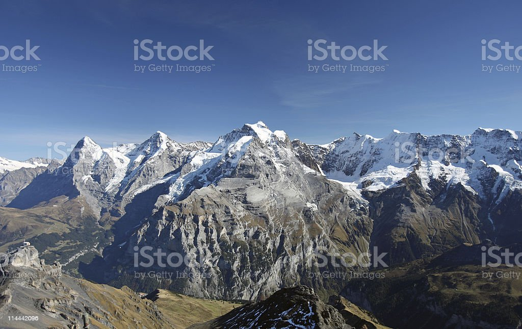 Schilthorn Panorama (Switzerland) royalty-free stock photo