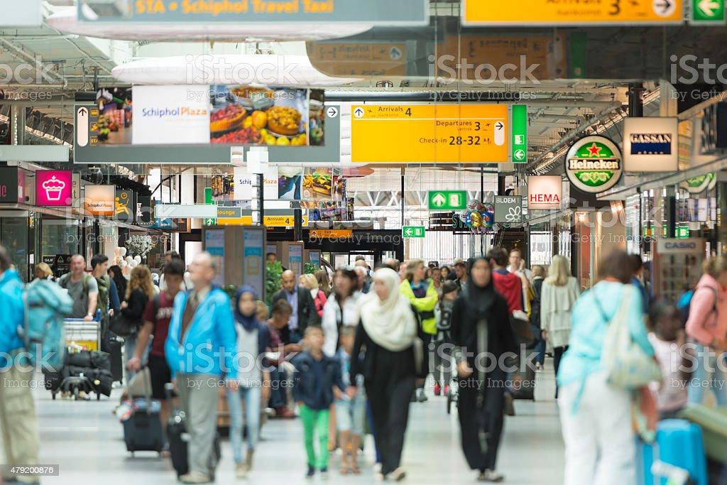 Schiphol Airport Amsterdam stock photo