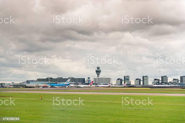 Schiphol Airport Amsterdam The Netherlands Stockfoto en meer beelden van 2015
