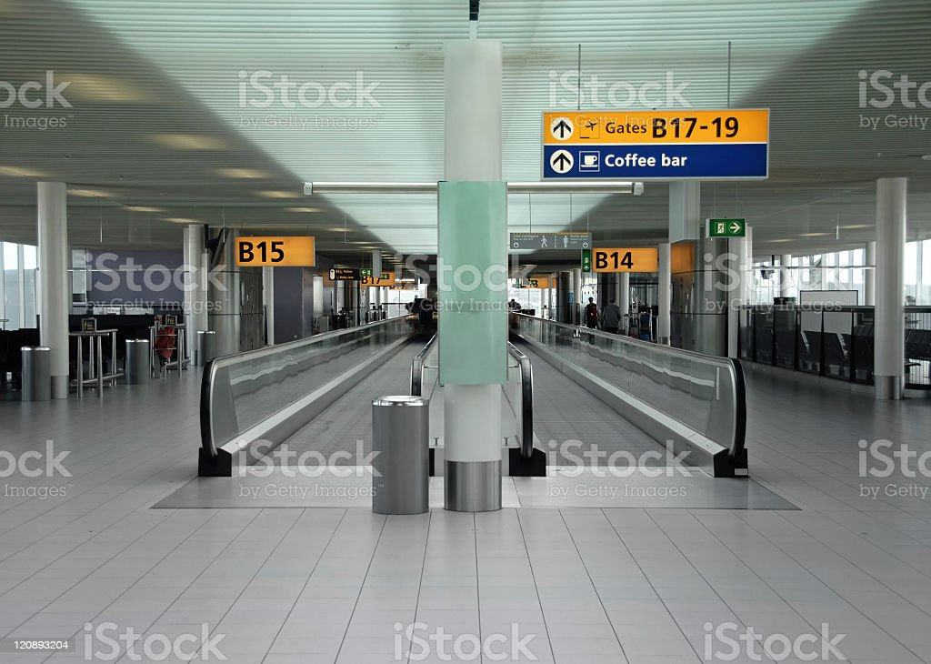 Schiphol airport, the Netherlands royalty-free stock photo