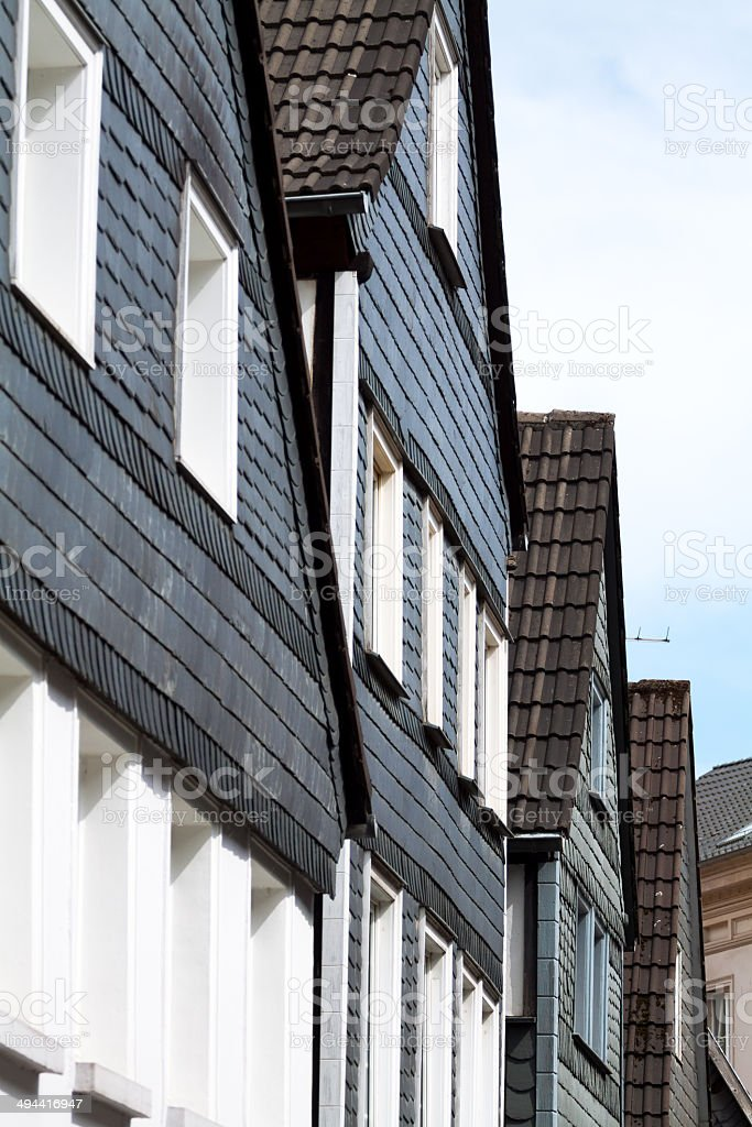 Schist facades and gables royalty-free stock photo