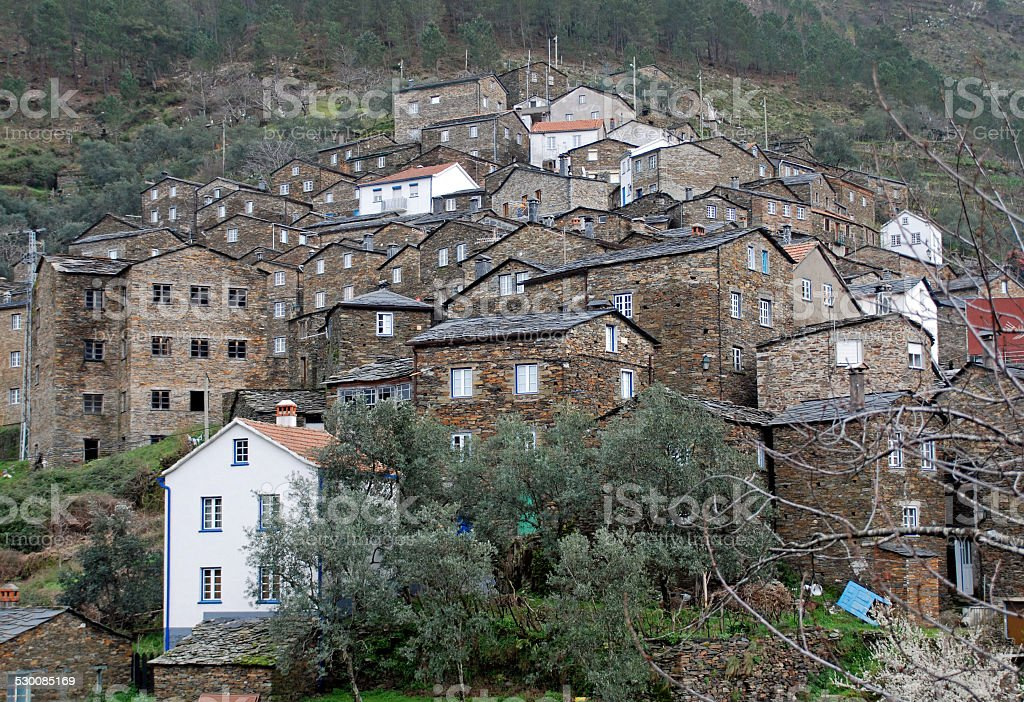 Schist village of Piodao in mountains of central Portugal stock photo
