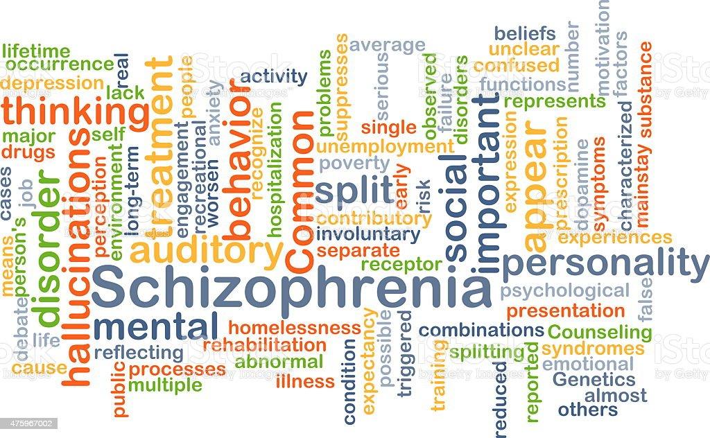 Schizophrenia background concept stock photo