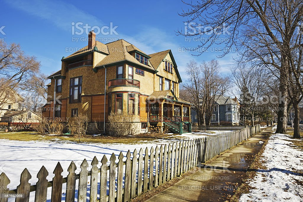 Schlecht House in Austin, Chicago royalty-free stock photo