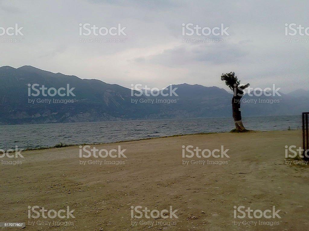 Schlechtes Wetter am Gardasee stock photo