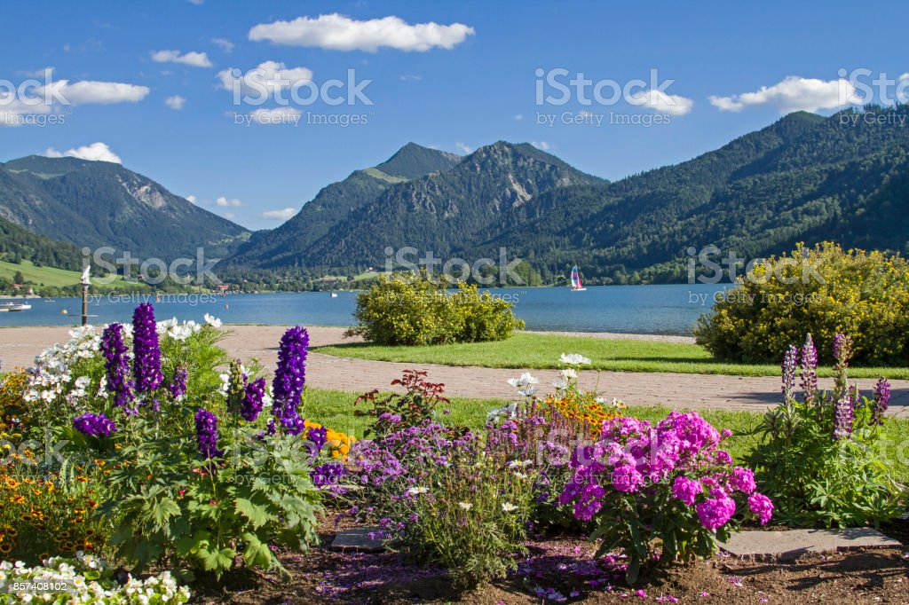 Schliersee - a popular holiday resort stock photo