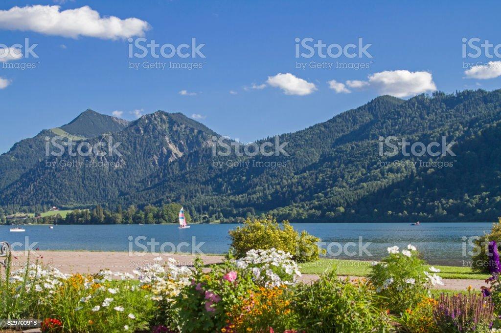 Schliersee - a popular mountain lake stock photo