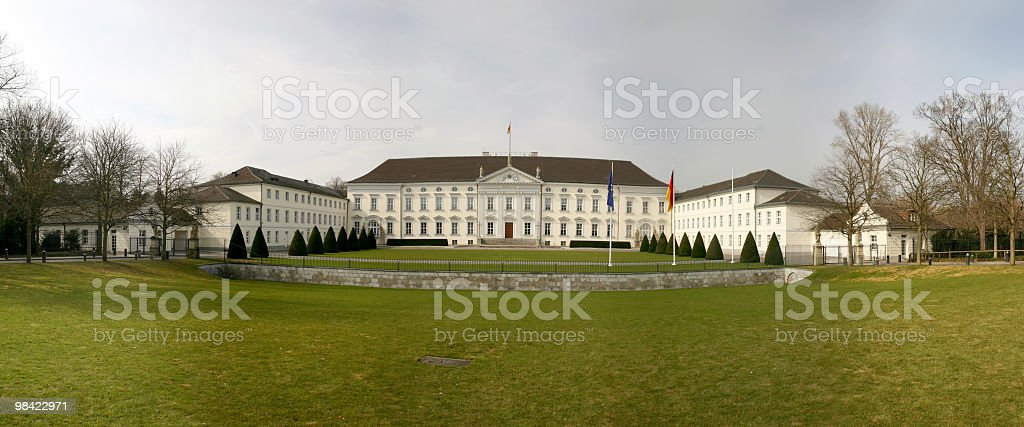 Schloss Bellevue in Berlin royalty-free stock photo