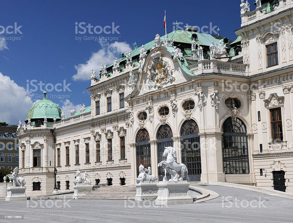 Schloss Belvedere Wien - Blevedere Palace Vienna (XXXL) royalty-free stock photo